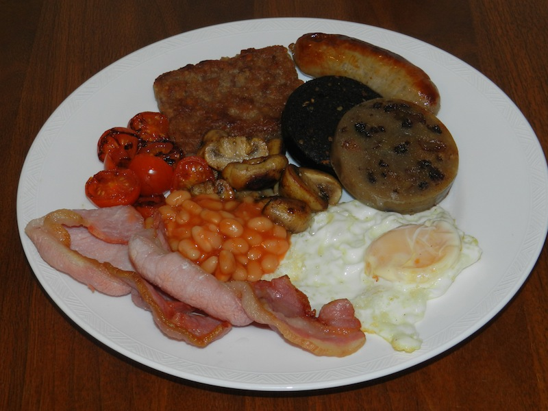Scottish Breakfast Sausage Cooked Scottish Breakfast